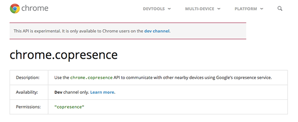Chromecopresence