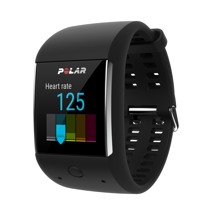 Polar M600_frontleft_raceband_black_HR125