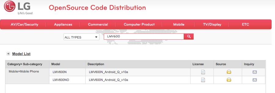 LG lanza el código fuente del kernel para V60ThinQ